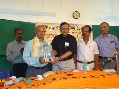 Prof. Somnath Dasgupta, V.C. Assam University handling over award