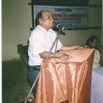 Dr. N. B. Biswas is delivering a lecture
