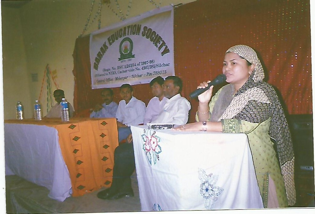 Dr. Shahin Ara Begum is delivering lecture