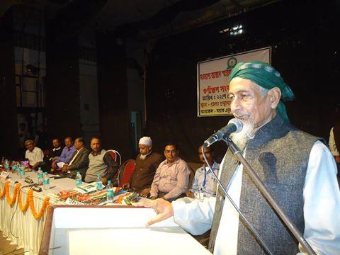 Maulana Tayebur Rahman Barbhuiya delivering lecture