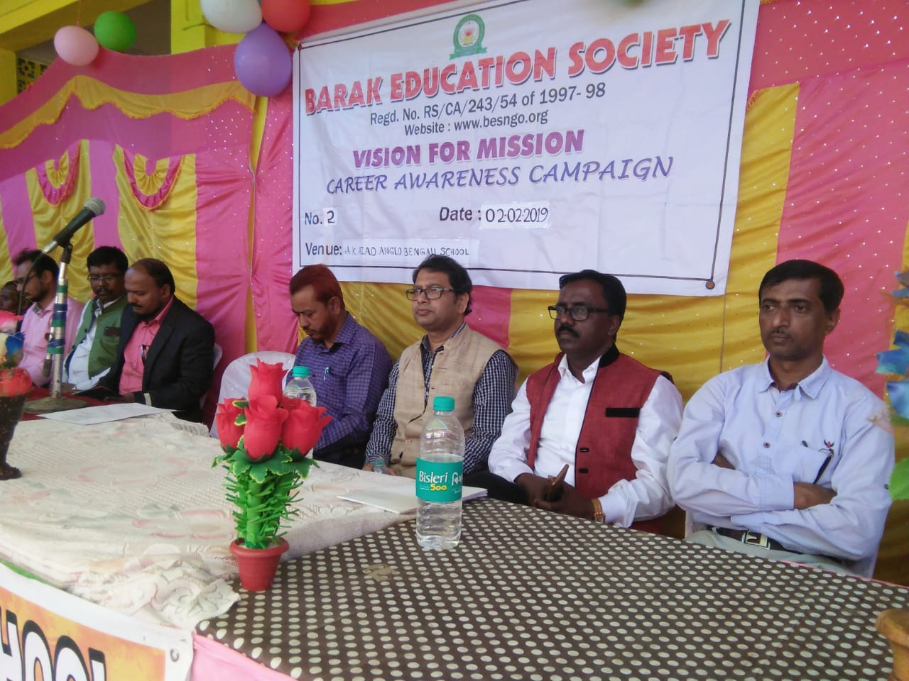 Vision for Mission program held at A.K.Azad High School , Sarail, Cachar on 2nd February, 2019